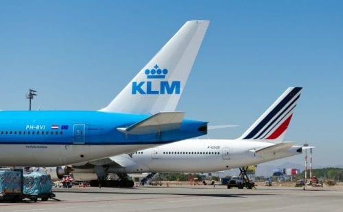 מטוס KLM ומטוס אייר פראנס
