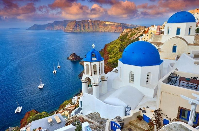 סנטוריני, יוון. צילום: Shutterstock