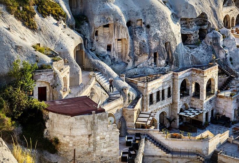 Goreme city in Cappadocia