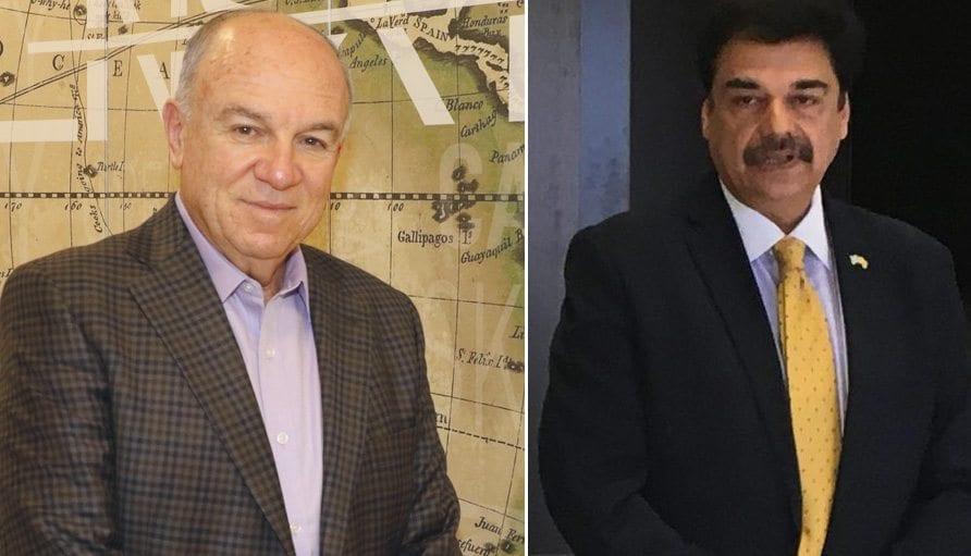 """אשוואני לוהאני, יו""""ר ומנכ""""ל אייר אינדיה (מימין) ואפריים פורטיס"""