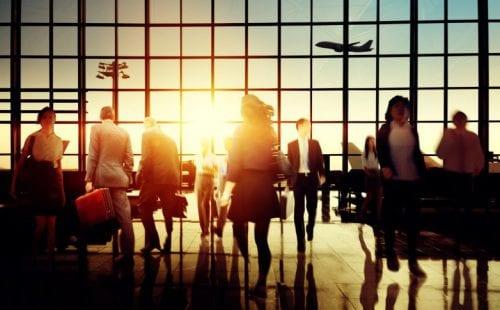 people in Air port