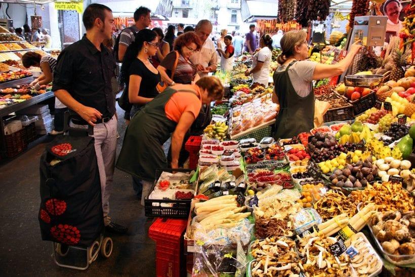 שוק בברצלונה. ארכיון