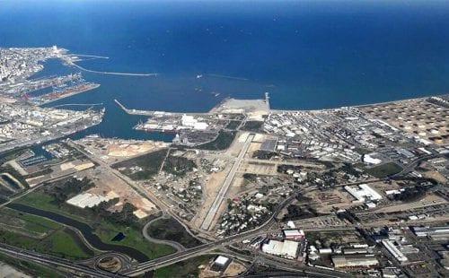 נמל התעופה של חיפה: פרוייקט הארכת מסלולים. צילום אוויר: אלכס
