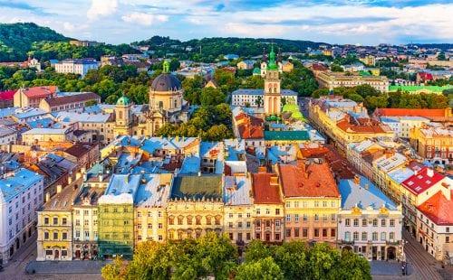 העיר לבוב באוקראינה
