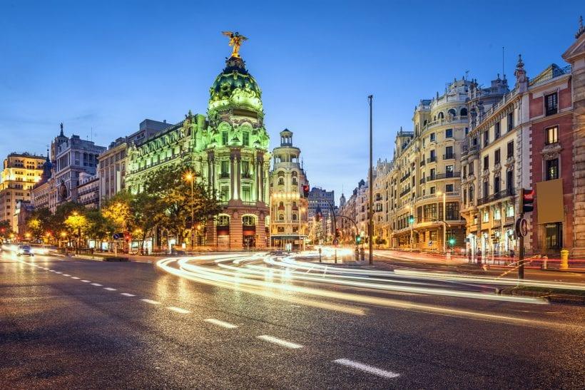 הגראן ויה נחשב לרחוב מסחר יוקרתי במרכז מדריד. צילום: 123rf
