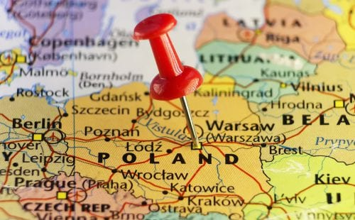 מפת פולין. צילום: שאטרסטוק|פולין צילום שלומית יפת ביאליק