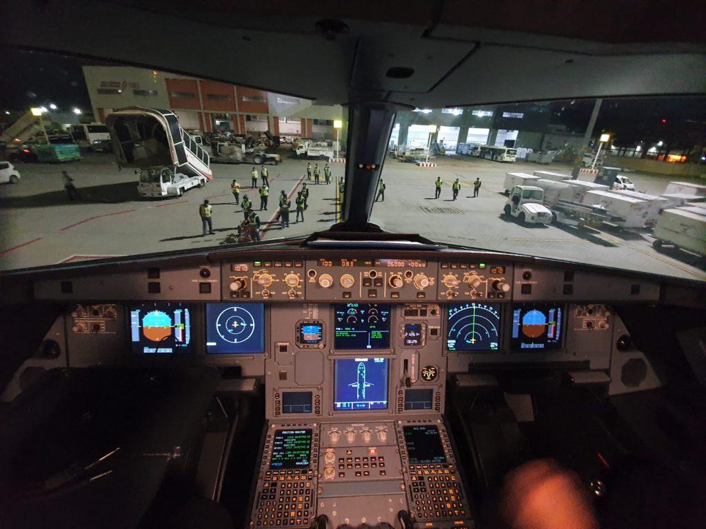 """מבט מתא הטייס בבנגלור. קרדיט: יח""""צ ישראייר"""