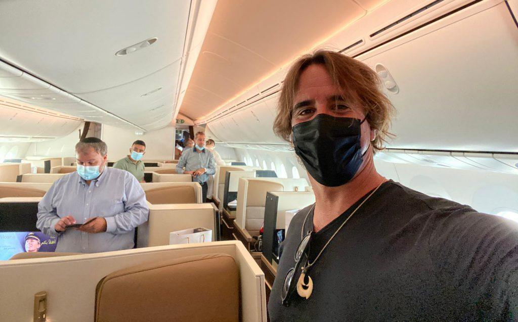 ארז שמול מנכל תלמה נסיעות בטיסה לאבו דאבי. צילום: ארז שמול
