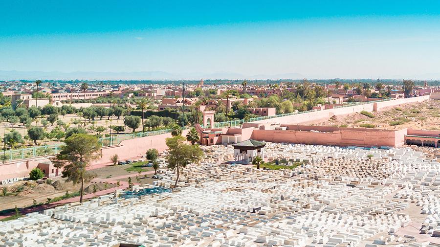 בית קברות במרקש, מרוקו