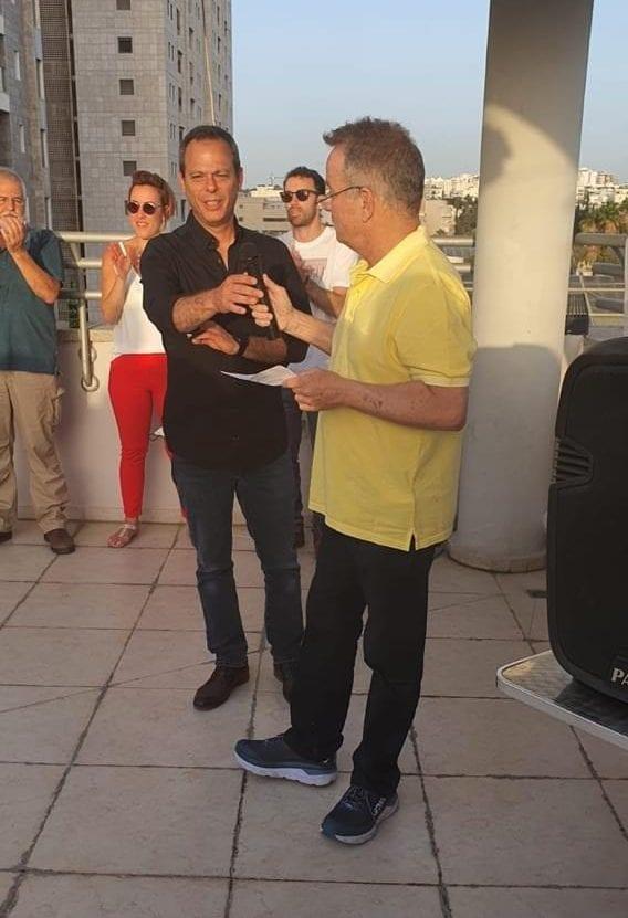 אחישי גל, יו״ר קבוצת איסתא ואסף גורן, מנכ״ל החברה, באירוע החגיגי