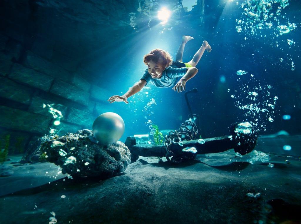 אטרקציית VR תת מימית בעולם המים יאס איילנד