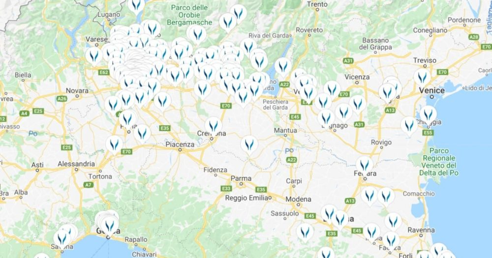 בדיקות קורונה באיטליה. צילום מסך מאתר  - https://locate.synlab.it/