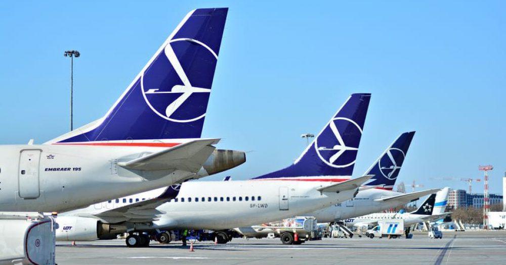 מטוסי לוט איירליינס בנמל התעופה בוורשה. צילום: rf123