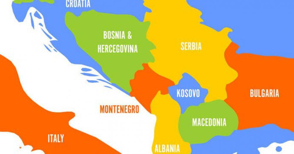 מפת הבלקן. rf123