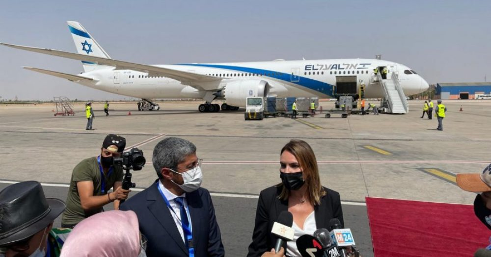 דינה בן טל, בשדה״ת במרקש  עם כלי התקשורת ממרוקו צילום:פספורטניוז