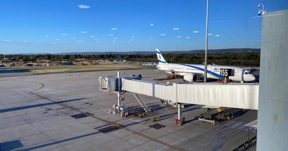 מטוס של אל על באוסטרליה