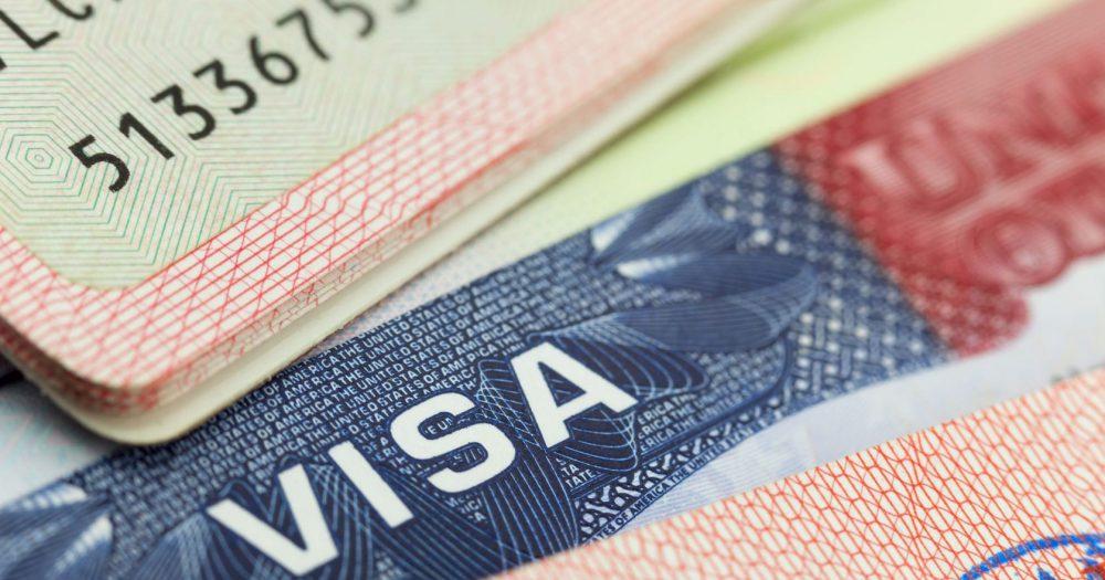 38906104 - usa visa in a passport - travel background